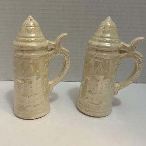 Iridescent Beer Stein Salt pepper shakers